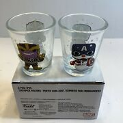 2pcs Shot Glasses Or Tooth Pick Holders From Marvel Collector Corps Box New