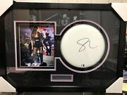 Selena Gomez Framed Autograph Drumhead With Photo With Coa Frame Is 20x28