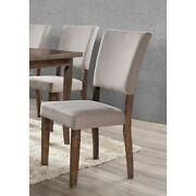 Best Master Furniture Antique Natural Oak Side Chair Set Of Taupe Modern And Cont