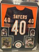 Gale Sayers Chicago Bears Signed Framed Matted Jersey Psa Dna Coa