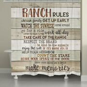 Laural Home Rustic Ranch Rules Shower Curtain Brown 71 X 72