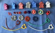 Beyblade Battle Tops Parts-bolt,ring,wheel,spin Track,tip, Launchers, Rip Cords