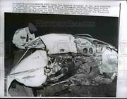 1960 Press Photo Marion Minn Police At Scene Of Two Car Head On Collision