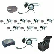Eartec Upmon9 Ultrapak Intercom System With 1 Hub / 9 Monarch Headsets With Ba
