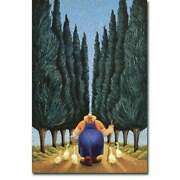 Cypress And Geese By Lowell Herrero Gallery Wrapped Canvas 24 X 16