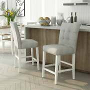 Furniture Of America Tia Transitional White Counter Chairs Antique White Modern