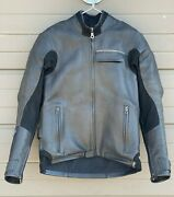 Aerostich Transit Leather Motorcycle Jacket 38 L Gore-tex Pro Removable Armor