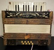 Anitique Gebr. Ludwig Accordeon Piano-tone Pine Tree Made In Germany Read Des