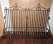 Pair Of Vintage Wrought Iron Planters Window Boxes 28h X 16w X 8d
