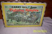 Vintage 1968 Louis Marx Carry All Action Fighting Knights Castle Set 4635 Rare