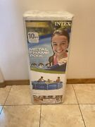 Intex 10ft X 30in Metal Frame Above Ground Pool Pump Not Included