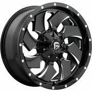 4- 20x10 Black Milled Cleaver 6x135 And 6x5.5 -18 Wheels 33 Tires