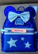 Disney Parks Loungefly Make A Wish Sorcerer Mickey Mini Backpack Sequin Nwt