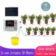Solar Garden Irrigation Device Automatic Plants Watering Double Pump Controller