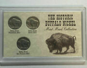The Historic Buffalo Nickel Mint Mark Collection P-d-s. Dealer Lot 10 Sets