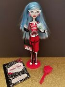 Monster High Doll Ghoulia Yelps First Wave Doll Pet+ Accessories Complete