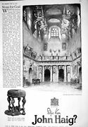 Antique Old Print 1925 John Haig Scotch Whisky Imperial Jewel Casket Chinese