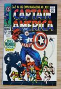 Captain America 100 Owtw Pgs. 1968 Black Panther Appearance Marvel Vf/nm