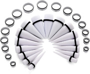 Xsna 32 Pcs Ear Stretching Kit Tapers Tunnels Plugs Surgical 00g - 1 Inch Implan