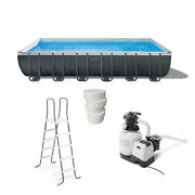 Intex 24and039 X 12and039 X 52 Ultra Xtr Frame Above Ground Pool Set W/ 3 Chlorine Tabs