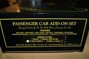 Weaver Aluminum Baltimore And Ohio Scale Coach And Sleeper 2-car Add On Set G1608-s