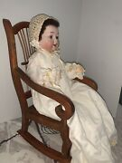 """Amazing Morimura Bros. 15"""" Bisque Head Character Doll W/ Original Clothing,chair"""