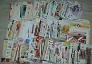 Lot Of 131 Uncut Sewing Patterns And 10 Sewing Books / Magazines