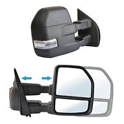 Pair Tow Mirrors Truck Pickup For 15-20 Ford F150andnbsppower Heated Led Signal Sensor