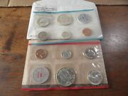 1964 P + D 90 Silver Coin Mint Set In Original Us Mint Package