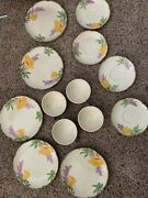 Rare Franciscan Poppy Set Of 13 5big Plates4small Plates4tea Cups Pu Only