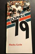 1979 Miami Dolphins Media Guide Yearbook Don Shula Bob Griese Larry Csonka