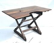 Antique Arts And Crafts Industrial Work Drafting Table