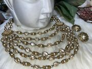 Miriam Haskell Drippy Pearl Necklace And Earring Set Amazing B2