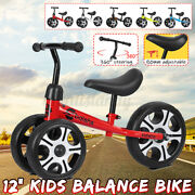 12and039and039 3-wheel Walker Kid Balance Bike Carbon Steel Children No-pedal Learn Ride