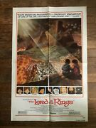1978 Original Movie Poster The Lord Of The Rings Ralph Bakshi 27 X 41