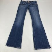 Euc Womens Lucky Brand Lil Atlantic Bootcut Button Fly Jeans Size 00 Blue