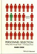 Personnel Selection Adding Value Through People - A Changing Picture, Hardc...
