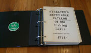 Rare Streaterand039s Reference Catalog Of Old Fishing Lures Book Binder Signed 4th Ed