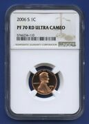 2006 S 1c Lincoln Memorial Cent Penny Ngc Pf70 Rd Ultra Cameo Brown Label