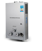Vevor Hot Water Heater Propane Gas Lpg Tankless 6/8/10/12/16/18l 4.8gpm Stainles