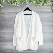 Madewell Nwt Antique Cream Kent Open Front Patch Pocket Cardigan Sweater Size S