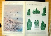 Old Print Chinese Jade Carvings Snipe Flying The Pilot C Pears Ship 1922 20th
