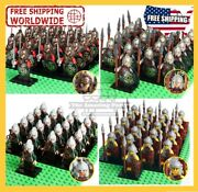 Medieval Knights Crusaders Mini Figures Kingdom Soldiers With Swords Army