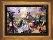 Thomas Kinkade Beauty And The Beast 18x27 S/n Canvas Limited Edition