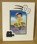 Betty Boop Carhop Picture W/ Pudgy Rollerskates Diner 8x10 Matted Die-cut Art