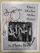 All Members Are Signed The Monkeys Monkees 1996 30 Laps Of Formation Tour Book