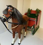Retired Samantha's Central Park Carriage And Felicity's Horse American Girl Doll
