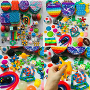 1-100pack Figet Fidget Pops Silicone Sensory Rainbow Toy Autism Stress Relief Us