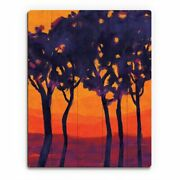 And039lonely Tree Lineand039 Wood Alpha Wall Art Print