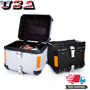 45l Aluminu Motorcycle Tour Tail Box Trunk Luggage Top Lock Storage Carrier Case